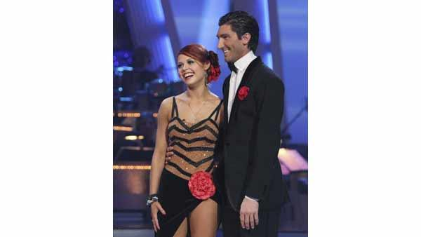 Olympic skater Evan Lysacek and partner Anna Trebunskaya performed the Argentine Tango on week seven of 'Dancing With the Stars,' Monday, May 3, 2010. The judges gave the couple a perfect score of 30 out of 30 points.