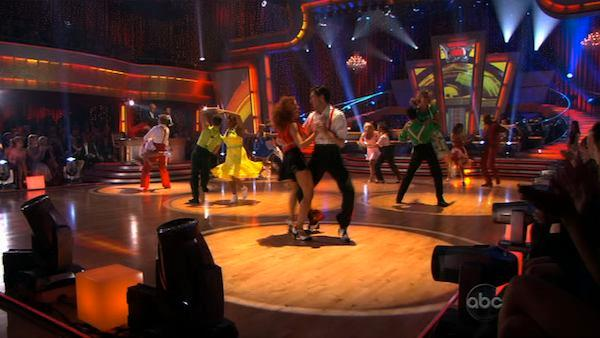 The remaining seven couples on 'Dancing With the Stars' take on a group Swing number on Monday, April 26, 2010.