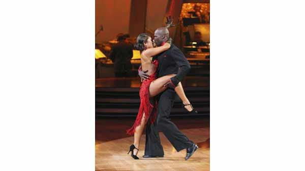 NFL star Chad Ochocinco and partner Cheryl Burke perform the Argentine Tango on week six of 'Dancing With the Stars,' Monday, April 26, 2010.