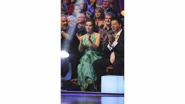 Actress Alyssa Milano attends the taping of week 6 of 'Dancing With the Stars'. She currently stars in the new sitcom 'Romantically Challenged'.