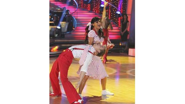 Derek Hough and Nicole Scherzinger perform in the Swing dance marathon on week six of 'Dancing With the Stars,' Monday, April 26, 2010.