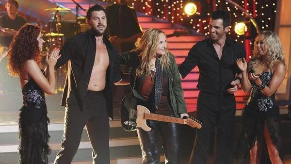 Anna Trebunskaya, Maksim Chmerkovskiy, Melissa Etheridge, Tony Dovolani, and Chelsie Hightower on 'Dancing With the Stars: The Results Show,' Tuesday, April 27, 2010.