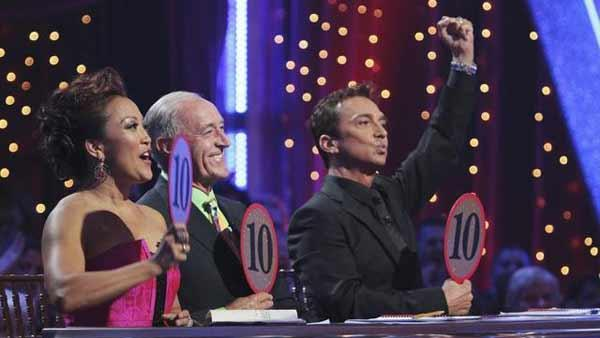 Judges Carrie Ann Inaba, Len Goodman and Bruno Tonioli on week seven of 'Dancing With the Stars,' Monday, May 3, 2010.