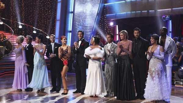 The remaining six couples on 'Dancing With the Stars' hit the dance floor together in a Cha Cha dance marathon on Monday, May 3, 2010.