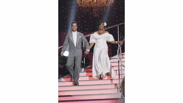 Comedian Niecy Nash and partner Louis van Amstel performed the Quickstep on week seven of 'Dancing With the Stars,' Monday, May 3, 2010. The judges gave the couple 25 points out of 30.