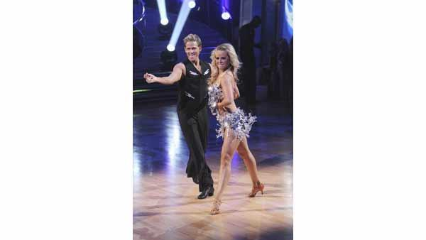 Chelsie Hightower and Damian Whitewood gave an encore performance of their 'Lady Gaga' group cha-cha on 'Dancing With the Stars: The Results Show,' Tuesday, May 4, 2010.