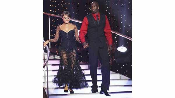 NFL star Chad Ochocinco and partner Cheryl Burke performed the Tango and a 1960's style Jive on week eight of 'Dancing With the Stars,' Monday, May 10, 2010. The judges gave the couple 45 points out of 60.
