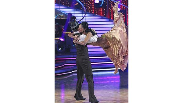 Singer Nicole Scherzinger and partner Derek Hough performed a '50s-style Paso Doble and a Fox Trot on week eight of 'Dancing With the Stars,' Monday, May 10, 2010.