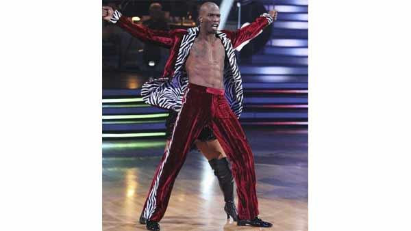 NFL star Chad Ochocinco and partner Cheryl Burke performed the Tango and a 1960's style Jive on week eight of 'Dancing With the Stars,' Monday, May 10, 2010. The judges gave the couple 45 out of 60 points.