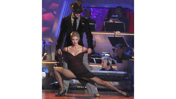 Erin Andrews and partner Maksim Chmerkovskiy performed a '80s-style Rumba and an Argentine Tango on week eight of 'Dancing With the Stars,' Monday, May 10, 2010.
