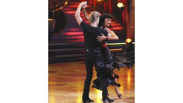 Pussycat Dolls star Nicole Scherzinger and partner Derek Hough perform an encore dance on 'Dancing With the Stars: The Results Show,' Tuesday May 11, 2010. The couple scored 59 out of 60 on Monday's show.