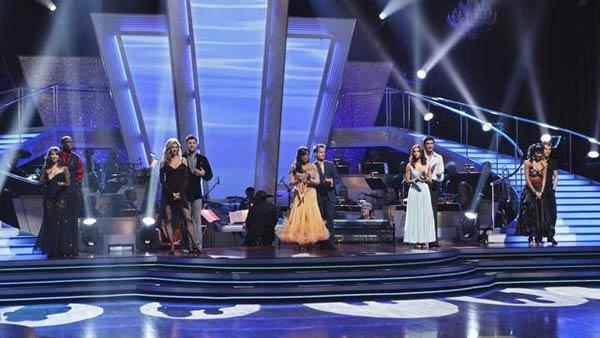 The final five couples await their fate before one team is eliminated on 'Dancing With the Stars: The Results Show,' Tuesday May 11, 2010.