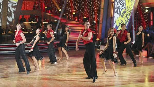 Dance team from Purdue University performs on 'Dancing With the Stars: The Results Show,' May 11, 2010.