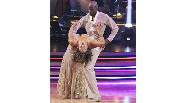 NFL star Chad Ochocinco and partner Cheryl Burke performed a Waltz on week nine of 'Dancing With the Stars,' Monday, May 17, 2010. The judges gave the couple 27 out of 30 points.
