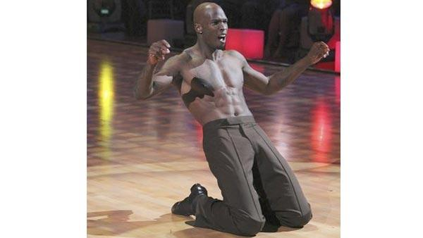 NFL star Chad Ochocinco and partner Cheryl Burke performed a Samba on week nine of 'Dancing With the Stars,' Monday, May 17, 2010. The judges gave the couple 25 out of 30 points.