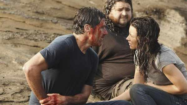 Jack Shephard (Matthew Fox), Hurley (Jorge Garcia) and Kate Austen (Evangeline Lilly)