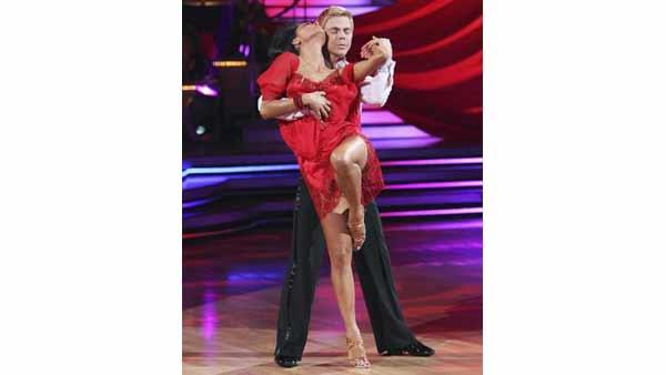 Nicole Scherzinger and partner Derek Hough performed a Rumba and freestyle dance on week 10 of 'Dancing With the Stars,' Monday, May 24, 2010. The judges gave the couple 55 out of 60.