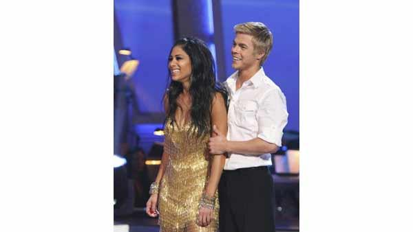 Nicole Scherzinger and Derek Hough on 'Dancing With the Stars: Results Show' on Tuesday, May 25. Evan Lysacek placed second and Scherzinger was deemed the winner of season ten.