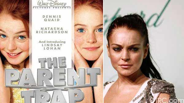 Lindsay Lohan appears in Playboy magazine in its January 2012 issue. / Lindsay Lohan appears in a scene from the 1998 movie 'The Parent Trap.'