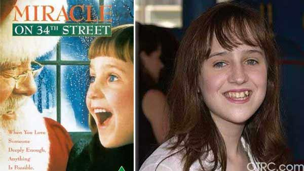 Mara Wilson's film debut was in the 1993 hit 'Mrs. Doubtfire' at the young age of 6.  She also starred in the 1994 remake of 'Miracle on 34th Street'. Wilson, now 22, is a recent graduate of New York University's Tisch School of the Arts.