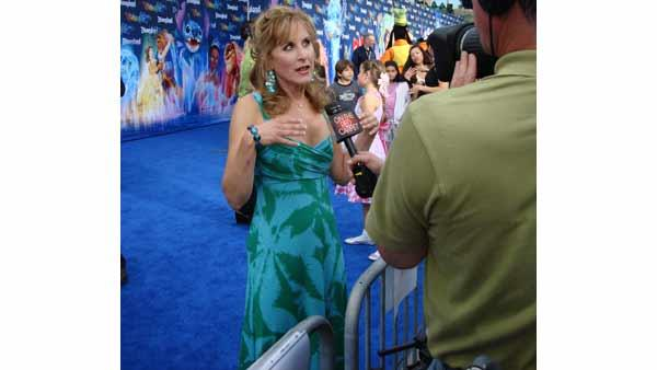 Jodi Benson, the voice of Ariel the Little Mermaid, is interviewed on the blue carpet at the premiere of the 'World of Color' water show at Disneyland in Anaheim, Calif., Thursday, June 10, 2010.