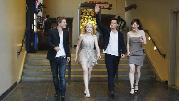 From left: Xavier Samuel (Riley), Dakota Fanning (Jane), Pater Facinelli (Carlisle Cullen) and Bryce Dallas Howard (Victoria)
