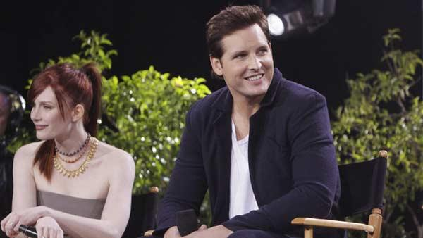 Nikki Reed (Rosalie Hale) and Peter Facinelli (Carlisle Cullen) at the primetime special 'Jimmy Kimmel Live's Twilight Saga: Total Eclipse of the Heart', set to air on Wednesday, June 23 at 10 p.m. ET on ABC.