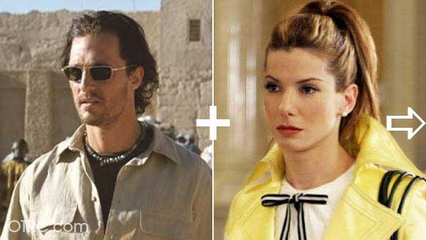 Sandra Bullock dated Matthew McConaughey in the late 1990s.  Bullock was once engaged to an actor
