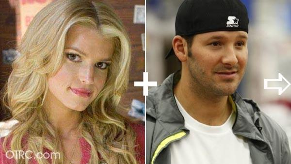 Jessica Simpson and Dallas Cowboys' Tony Romo were an item, and the quarterback's fans notoriously blamed Simpson for distracting him during a playoff loss.