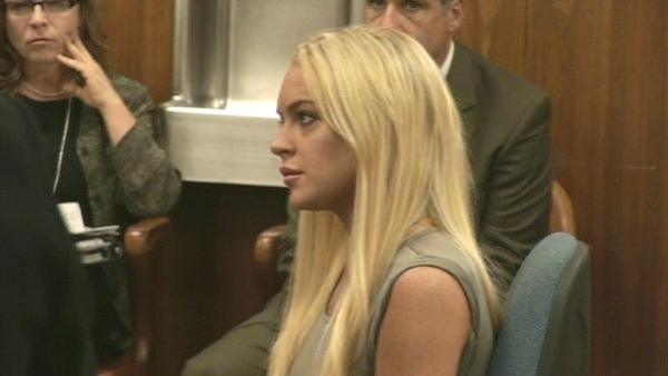 Lindsay Lohan is seen in court on Tuesday, July 20, 2010. The actress was taken into custody to begin serving her jail sentence for a probation violation.
