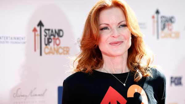Actress  Marcia Cross arrives at the 'Stand Up To Cancer' television event at Sony Studios in Culver City, Calif. (AP Photo/Matt Sayles)