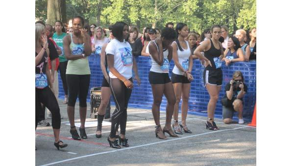 Half of the top 20 line up at the 2010 High Heel-a-thon.