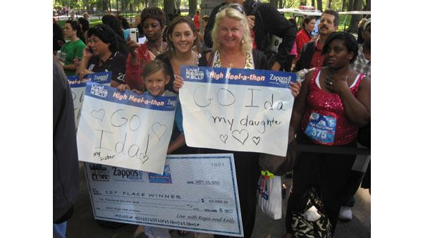 The family of winner Ida Bernstein show their support at the 2010 High Heel-a-thon.