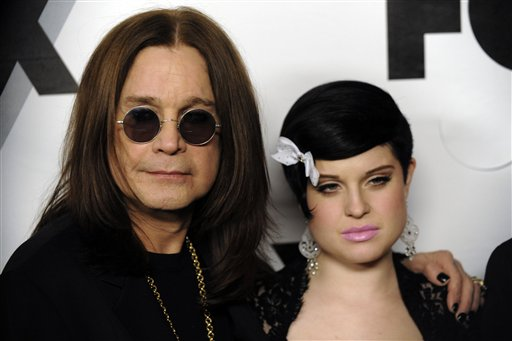Ozzy Osbourne, left, and his daughter Kelly,...