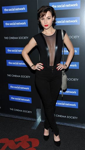 Actress Allison Scagliotti attends a special screening of 'The Social Network' hosted by The Cinema Society on Wednesday, Sept. 29, 2010 in New York. (AP Photo/Evan Agostini)