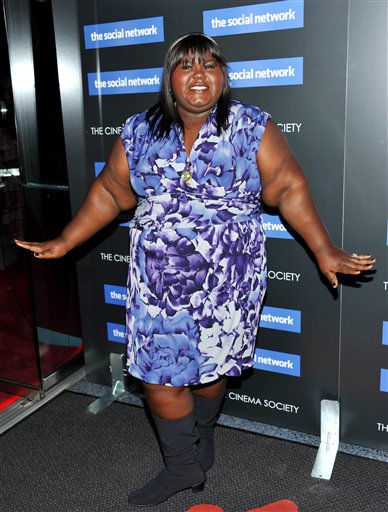 "<div class=""meta image-caption""><div class=""origin-logo origin-image ""><span></span></div><span class=""caption-text"">Actress Gabourey Sidibe attends a special screening of 'The Social Network' hosted by The Cinema Society on Wednesday, Sept. 29, 2010 in New York. (AP Photo/Evan Agostini) (AP Photo/ Evan Agostini)</span></div>"