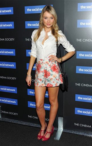 Actress Katrina Bowden attends a special screening of 'The Social Network' hosted by The Cinema Society on Wednesday, Sept. 29, 2010 in New York.