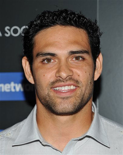 New York Jets quarterback Mark Sanchez attends a...