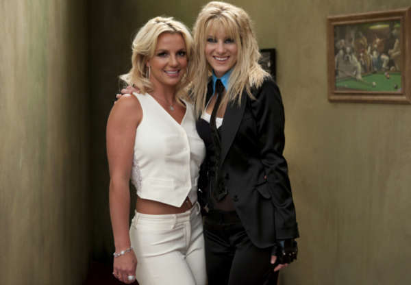 Britney Spears (L) and Heather Morris (R) on the...