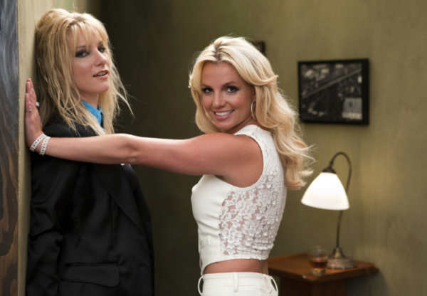 Britney Spears (R) and Heather Morris (L) on the...