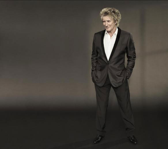 Rod Stewart appears in a photo posted on his website in 2010.