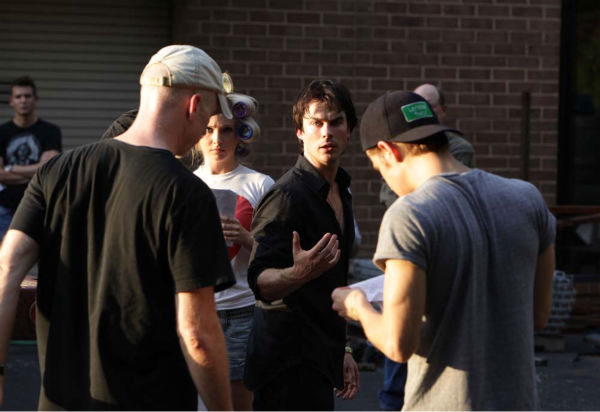 Ian Somerhalder films &#39;The Vampire Diaries&#39; episode &#39;Brave New World&#39;, which aired on Sept. 16, 2010. <span class=meta>(Photo&#47;Quantrell D.Colbert)</span>
