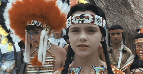 &#39;Addams Family Values&#39; &#40;1993&#41;.  In this sequel to &#39;The Adams Family&#39; movie, Wednesday, played by Christina Ricci, and Pugsley, portrayed by Jimmy Workman, are shipped off to summer camp. When Wednesday and Pugsley refuse to cooperate in group activities, they are banished to the Harmony Hut. The campers are then cast in a play about &#39;The First Thanksgiving.&#39;  The good kids play the pilgrims and the social outcasts portray Chippewa Indians.  What happens next is of true &#39;Addams Family&#39; fashion. <span class=meta>(Photo courtesy of Paramount Pictures)</span>