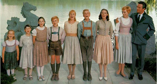 &#39;The Sound of Music&#39; took nine months to film. &#40;Pictured from left: Kym Karath &#40;Gretl&#41;, Debbie Turner &#40;Marta&#41;, Angela Cartwright &#40;Brigitta&#41;, Duane Chase &#40;Kurt&#41;, Heather Menzies-Urich &#40;Louisa&#41;, Nicholas Hammond &#40;Friedrich&#41;, Charmian Carr &#40;Liesl&#41;, Julie Andrews &#40;Maria&#41; and Christopher Plummer &#40;Captain Von Trapp&#41; in a scene from &#39;The Sound of Music&#39;.&#41; <span class=meta>(Twentieth Century Fox Film Corporation &#47; Robert Wise Productions)</span>