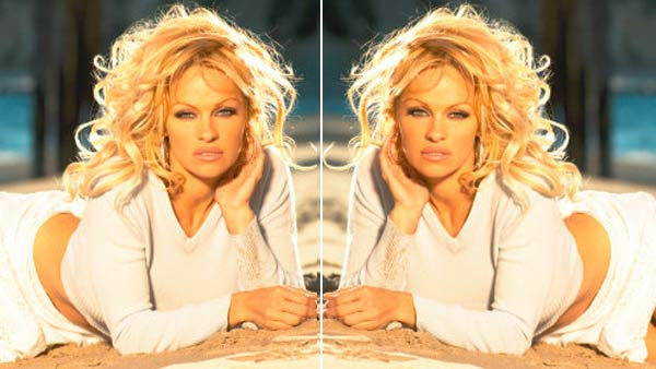 Pamela Anderson is scared of mirrors. <span class=meta>(facebook.com&#47;pamelaanderson)</span>