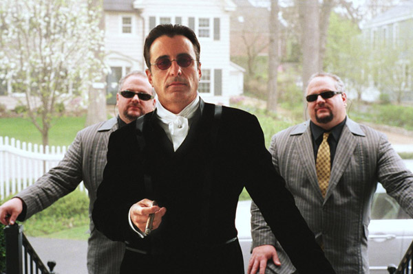 Actor Andy Garcia was born as a Siamese twin.  FACT: Indeed Andy Garcia was born with and undeveloped twin attached at his shoulder, which was surgically removed. Pictured: Andy Garcia in a scene from &#39;Ocean&#39;s Twelve.&#39; <span class=meta>(Photo courtesy of Warner Bros. Pictures)</span>