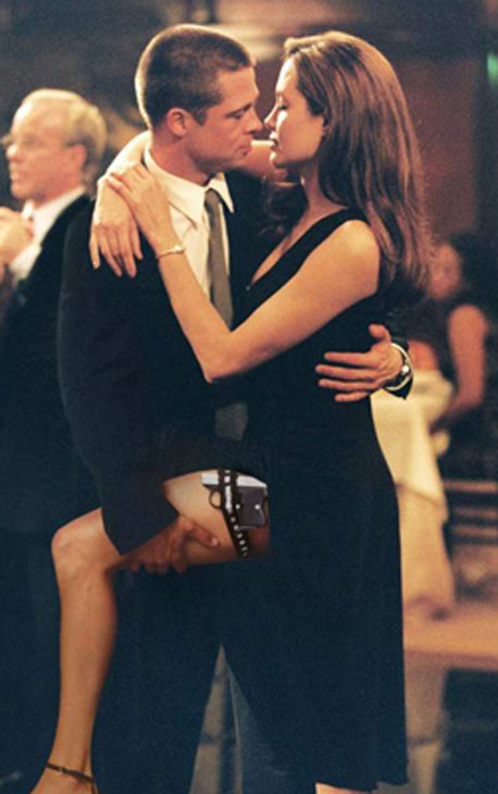 Growing up, Angelina listened to punk rock music but also took ballroom dancing lessons. Pictured: Angelina Jolie and Brad Pitt in a ballroom dancing scene from the 2005 movie 'Mr. and Mrs. Smith'.