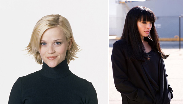 "<div class=""meta ""><span class=""caption-text "">In 2007, Angelina tied with Reese Witherspoon on the Hollywood Reporter's list of highest paid actresses.  Both receive $15-20 million per movie. Pictured: Reese Witherspoon in 'Sweet Home Alabama' and Angelina Jolie in 'Salt'. (Photo courtesy of Buena Vista Home Entertainment/Sony Pictures)</span></div>"