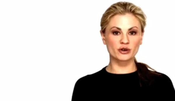 Anna Paquin speaks on behalf of the Give a Damn...