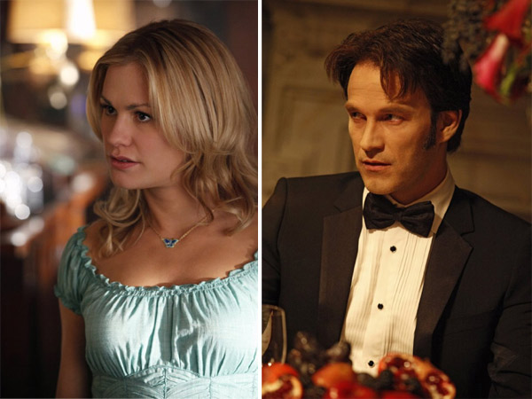 &#39;True Blood&#39; stars Anna Paquin and Stephen Moyer tied the knot on August 21, 2010 in a private ceremony in Malibu, California.   The 28-year-old stars as Sookie Stackhouse, a waitress who falls for Moyer&#39;s character, vampire Bill Compton in the hit HBO series. <span class=meta>(Photo courtesy of HBO)</span>